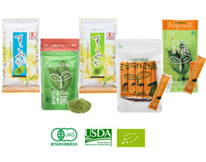 Organically grown tea/US standards/EU standards